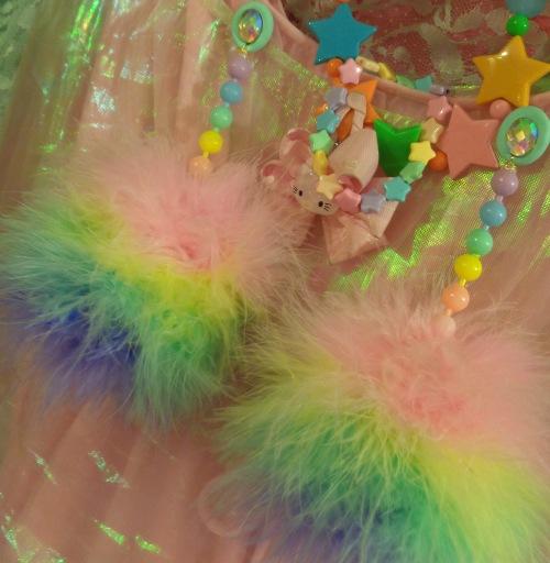 rainbow fluffs